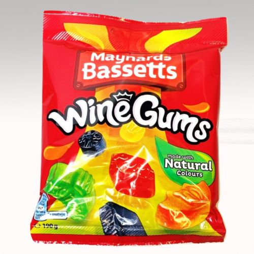 BASSETTS WINE GUMS 190G BAG x12